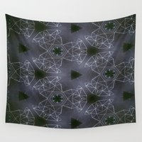 constellations Wall Tapestries featuring constellations by monicamarcov