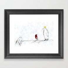 The King of All Penguins Framed Art Print