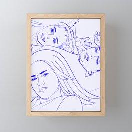 Sisters    #sketch #minimal #drawing Framed Mini Art Print
