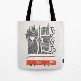 Toronto Cityscape Tote Bag