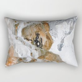 Travertine Mammoth Hot Springs Yellowstone Rectangular Pillow