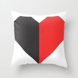 heart 50/50 Throw Pillow