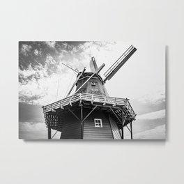 Original Dutch Windmill | Friesland, The Netherlands | Black & White | Travel Photography | Fine Art Photo Print Metal Print