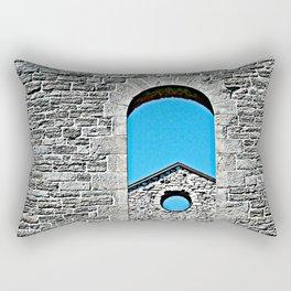 Through a Wall - The Peace Collection Rectangular Pillow