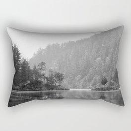 Historic Mattawa River in Black and White Rectangular Pillow