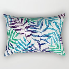 Watercolor Tropical Palm Leaves XI Rectangular Pillow