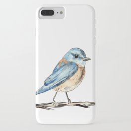 Bluebirds watercolour and ink iPhone Case