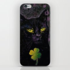 Lucky Black Cat iPhone & iPod Skin