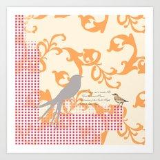 Upon the Nearest Breeze - Peach Art Print