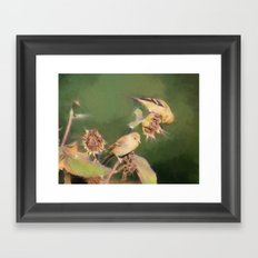 Yellow Finch at the Start of Autumn Framed Art Print