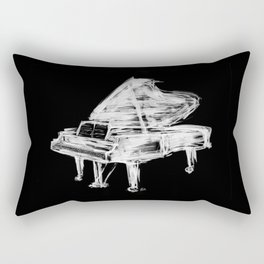 Black Piano Rectangular Pillow