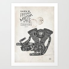 Hand lettering engine Art Print