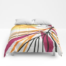 Sun and leaves Comforters