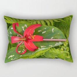 Aztec Amaryllis & Fern & Taro Rectangular Pillow