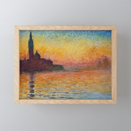 San Giorgio Maggiore by Twilight by Claude Monet Framed Mini Art Print