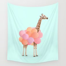 GIRAFFE PARTY Wall Tapestry
