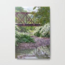Train Bridge over The Beaverkill River Metal Print
