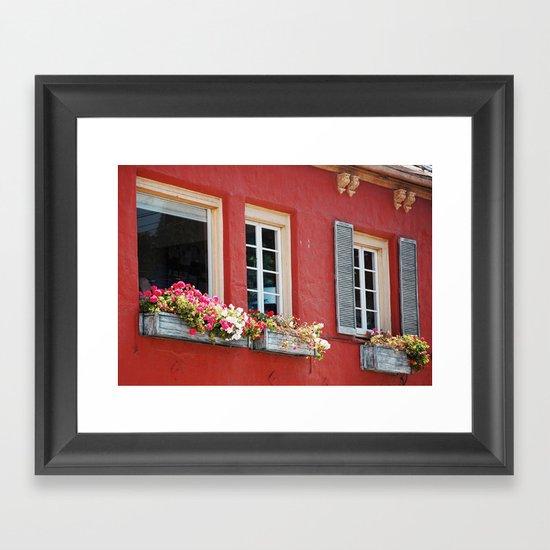Window Boxes Framed Art Print