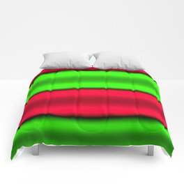 Green & Red Horizontal Stripes Comforters