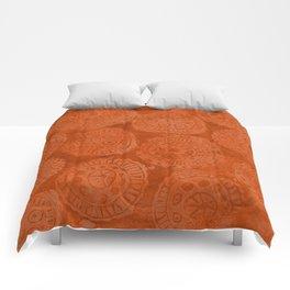 Tribal Terracota Rounds Comforters