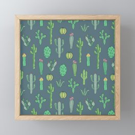 Cactus Pattern II Framed Mini Art Print