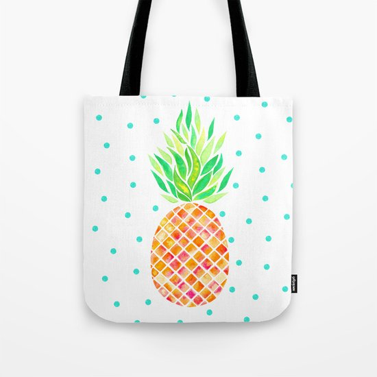 Tangerine Pineapple Tote Bag