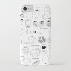 Hand  drawn collection of various fruits iPhone 7 Slim Case