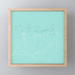 LIGHT LINES ENSEMBLE IX TURQUOISE Framed Mini Art Print