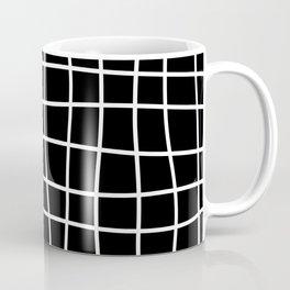 Hand Drawn Grid (white/black) Coffee Mug
