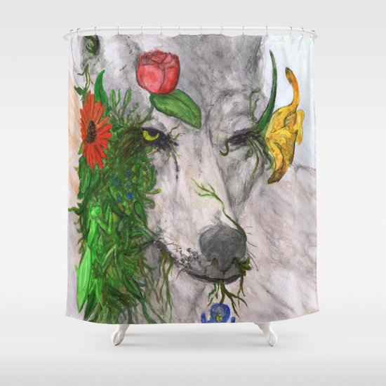 """Wolf's Law"" by Cap Blackard Shower Curtain"