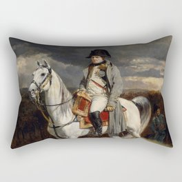 Napoleon Bonaparte On Horseback Rectangular Pillow