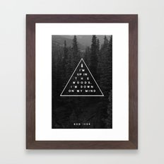Woods -- Bon Iver Framed Art Print