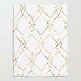 Gold Geometric Poster