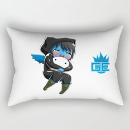 Fuzzy Chibi Luc (Expression 1)  Rectangular Pillow