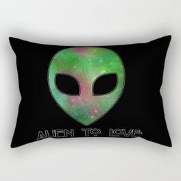 Alien to Love - GREEN Rectangular Pillow