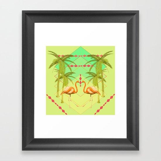 go flamingo, go ! Framed Art Print