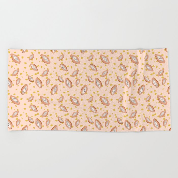 Beach Towel Bundle: Papaya Bundle Beach Towel By Dboracamargo