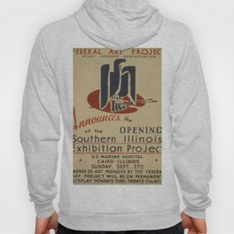 Vintage poster - Southern Illinois Exhibition Project Hoody