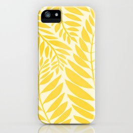 Golden Yellow Leaves iPhone Case