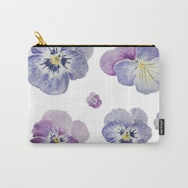 Watercolor Pansy Pattern Carry-All Pouch