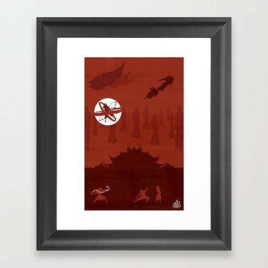 Avatar - Fire Book Framed Art Print