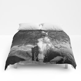 9102-LP Tree of Life Nature Goddess Earth Mother One with the Tree BW Fine Art Nude Comforters