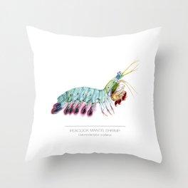 Peacock Mantis Shrimp Throw Pillow