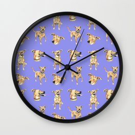 Purple Dog Wall Clock