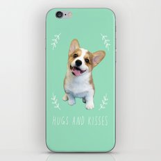 Geordi the corgi, hug and kiss iPhone & iPod Skin