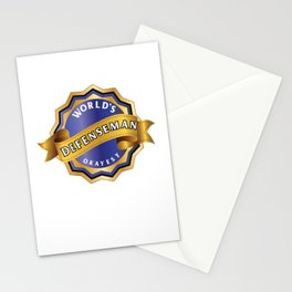 World's Okayest Defenseman Stationery Cards
