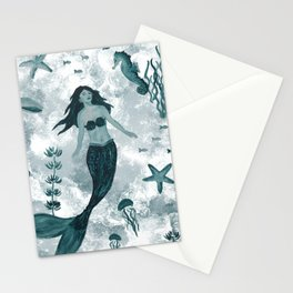 Under the Sea (Teal) Part 1 Stationery Cards