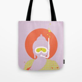 Buddha : Take A Deep Breath! (PopArtVersion) Tote Bag