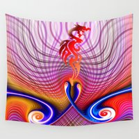 dragon Wall Tapestries featuring Dragon by haroulita