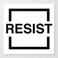 Resist 1 Canvas Print